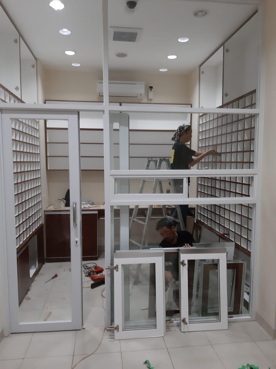 gambar Pekerjaan interior klinik As-Syifa